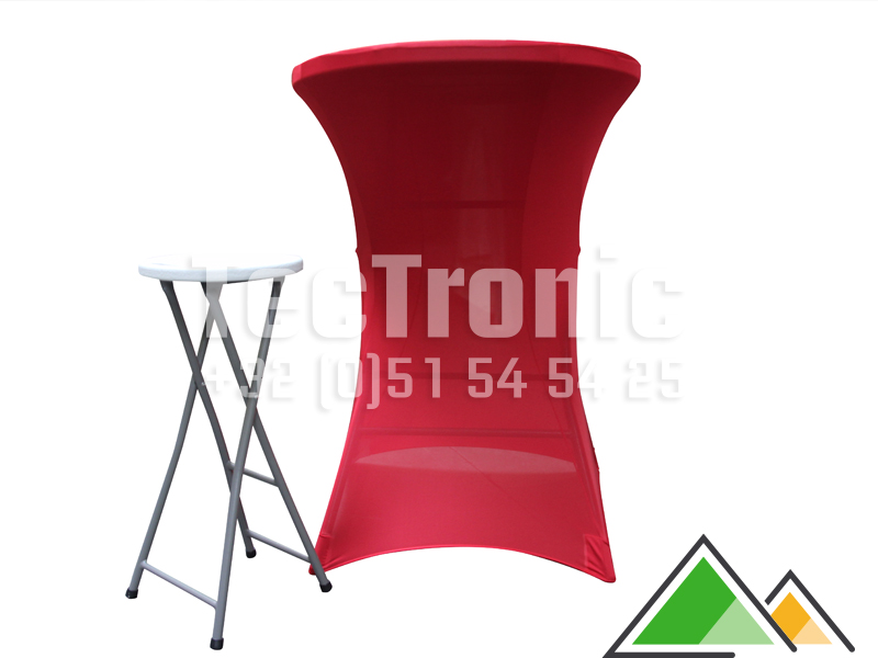 Table de reception forte pour usage professionnelle for Housse pour tabouret de bar